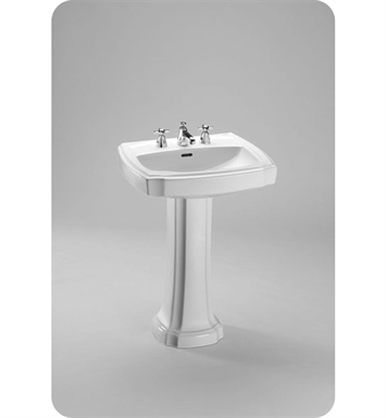 "TOTO LPT972.8#01 Guinevere® Pedestal Lavatory With Finish: Cotton And Faucet Holes: Three Hole for 8"" Faucet Centers"