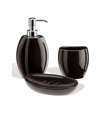 Nameeks ZE100-14 StilHaus Bathroom Accessory Set With Finish: Black