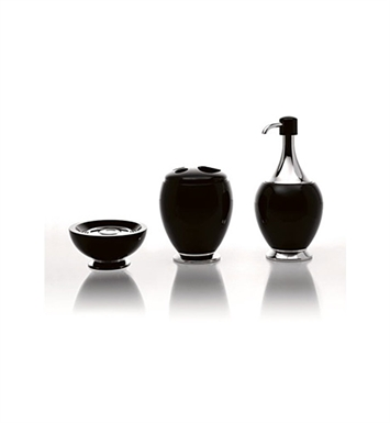 Nameeks A05200-14 Toscanaluce Bathroom Accessory Set With Finish: Black