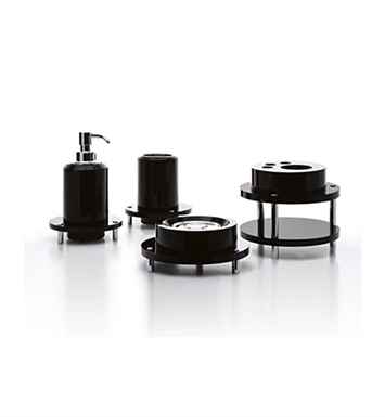 Nameeks A11900-14 Toscanaluce Bathroom Accessory Set With Finish: Black