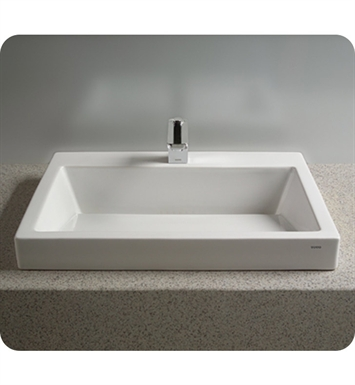 "TOTO LT171G.8#01 Kiwami® Renesse® Design I Vessel Lavatory with SanaGloss® With Finish: Cotton And Faucet Holes: Three Hole for 8"" Faucet Centers"