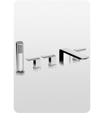 TOTO TB960S1 Soirée® Deck-Mount Bath Faucet with Lever Handles, Hand Shower and Diverter Trim