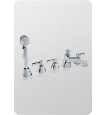 TOTO TB970S1 Guinevere® Deck-Mount Bath Faucet, with Lever Handles,Hand Shower and Diverter Trim
