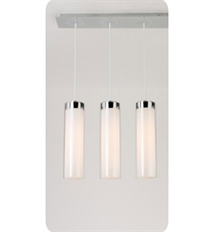 Ayre CIRPL3F-P-SO-CL Circ 3 Light Linear Multi Pendant with Flat Canopy