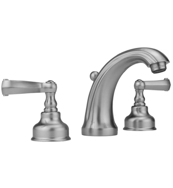 Jaclo 5840-T637-SC Jaylen Widespread Faucet with Ribbon Lever Handles With Finish: Satin Chrome