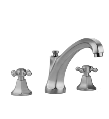 Jaclo 6972-T688-TRIM-TB Astor High Spout Roman Tub Faucet with Traditional Cross Handles With Finish: Tristan Brass