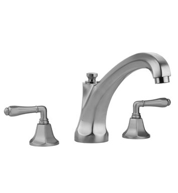 Jaclo 6972-T684-TRIM-SC Astor High Spout Roman Tub Faucet with Traditional Lever Handles With Finish: Satin Chrome