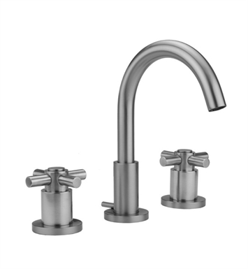 Jaclo 8880-C-SN Contempo Widespread Faucet with Cross Handles With Finish: Satin Nickel