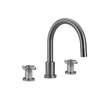 Jaclo 9980-C-TRIM-SB Contempo Roman Tub Faucet with Cross Handles With Finish: Satin Brass