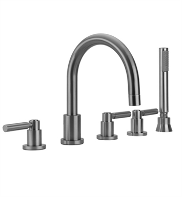 Jaclo 9980-L-S-456-TRIM-SN Contempo Roman Tub Faucet with Straight Handshower & Lever Handles With Finish: Satin Nickel