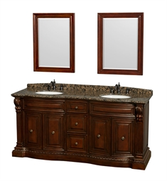 "Roxbury 72"" Double Bathroom Vanity Set by Wyndham Collection in Cherry"