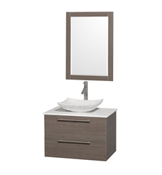 "Amare 30"" Single Bathroom Vanity Set by Wyndham Collection in Gray Oak"