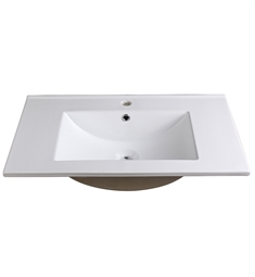 "Fresca FVS8130WH Allier 30"" White Integrated Sink with Countertop"