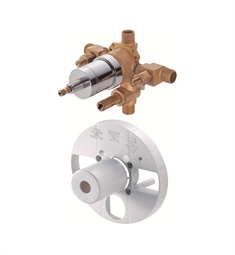 Danze Single Control Pressure Balance Mixing Valve with Diverter and Screwdriver Stops in Rough Brass
