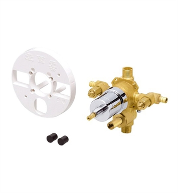 Danze D113010BT Single Control Pressure Balance Mixing Valve with Diverter and Screwdriver Stops in Rough Brass