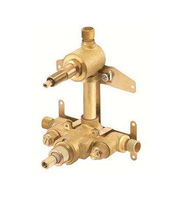 Danze D151000BT Two Handle Thermostatic Shower Valve with Compression Volume Control in Rough Brass