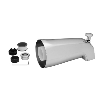 Jaclo 3011-SC Decorative Tub Spout with Diverter With Finish: Satin Chrome