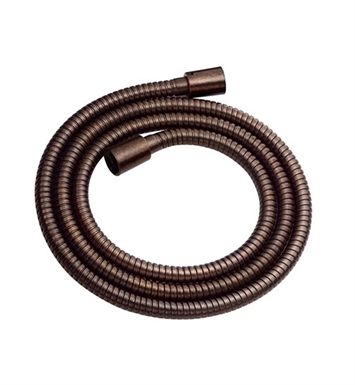 "Danze D469020BR Tumbled Bronze Interlock 72"" Metal Hand Shower Hose"