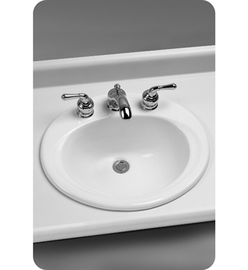 "TOTO LT401.8#01 Self Rimming Lavatory ADA With Finish: Cotton And Faucet Holes: Three Hole for 8"" Faucet Centers"