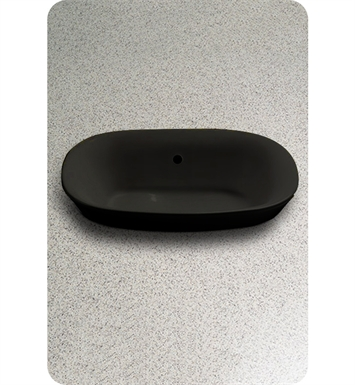 TOTO LT480#51 Maris™ Semi-Recessed Vessel Lavatory in Ebony Black With Finish: Ebony <strong>(SPECIAL ORDER. USUALLY SHIPS IN 3-4 WEEKS)</strong>