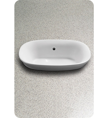 TOTO LT480G#11 Maris™ Semi-Recessed Vessel Lavatory With Finish: Colonial White