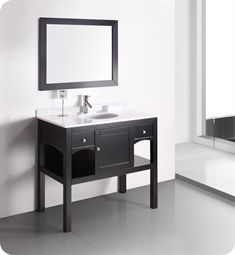 "Fresca FVNT-079 Decor Planet Exclusive 38"" Modern Espresso Bathroom Vanity w/ Mirror and Faucet"