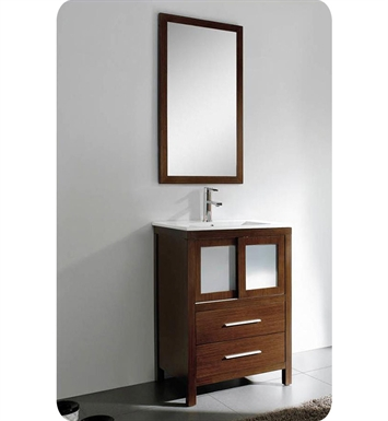 Fresca FVN8224WG Decor Planet Exclusive Esterro Modern Bathroom Vanity with Mirror and Faucet