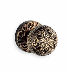Omnia 417-60 Customizable Ornate Knob Latchset with Handle