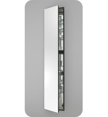 "Robern MC1670D6FBLE2 M Series 15 1/4"" Wide x 6"" Deep Customizable Cabinet With Cabinet Hinge: Left And Electrical Option: Electrical outlet with Interior Light And Style and Color: Flat Cabinet Top with Beveled Mirrored Door"