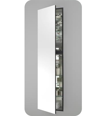 "Robern MC2070D6FPLE2 M Series 19 1/4"" Wide x 6"" Deep Customizable Cabinet With Cabinet Hinge: Left And Electrical Option: Electrical outlet with Interior Light And Style and Color: Flat Cabinet Top with Plain Mirrored Door"