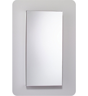 "Robern MC2040D6FBRE2 M Series 19 1/4"" Wide x 6"" Deep Customizable Cabinet With Cabinet Hinge: Right And Electrical Option: Electrical outlet with Interior Light And Style and Color: Flat Cabinet Top with Beveled Mirrored Door"