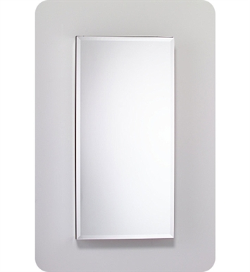 "Robern MC2040D8FBLE2 M Series 19 1/4"" Wide x 8"" Deep Customizable Cabinet With Cabinet Hinge: Left And Electrical Option: Electrical outlet with Interior Light And Style and Color: Flat Cabinet Top with Beveled Mirrored Door"