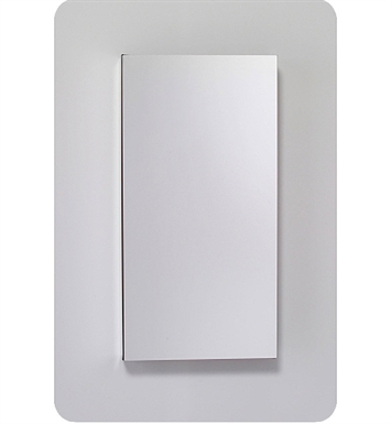 "Robern MC1630D6FPLE4 M Series 15 1/4"" Wide x 6"" Deep Customizable Cabinet With Cabinet Hinge: Left And Electrical Option: Electrical outlet with Interior Light, Night Light & Defogger And Style and Color: Flat Cabinet Top with Plain Mirrored Door"