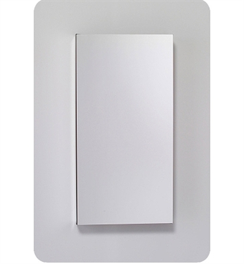 "Robern MC1630D8FBLE2 M Series 15 1/4"" Wide x 8"" Deep Customizable Cabinet With Cabinet Hinge: Left And Electrical Option: Electrical outlet with Interior Light And Style and Color: Flat Cabinet Top with Beveled Mirrored Door"