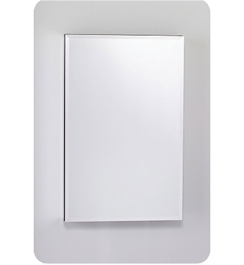 "Robern MC2030D8FPLE2 M Series 19 1/4"" Wide x 8"" Deep Customizable Cabinet With Cabinet Hinge: Left And Style and Color: Flat Cabinet Top with Plain Mirrored Door And Electrical / Lighting / Audio Option: Electrical outlet with Interior Light"