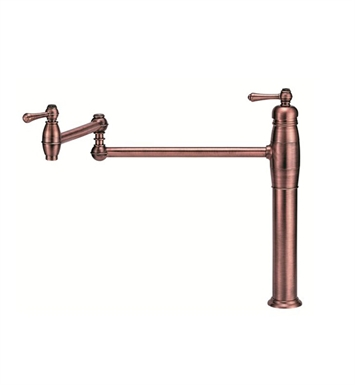 Danze D206557AC Opulence™ Single Handle Deck Mount Pot Filler in Antique Copper
