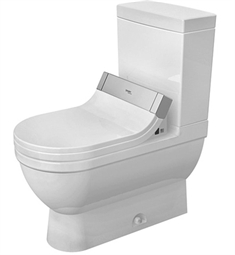 Duravit Starck Elongated Two Piece Toilet in White Alpin Finish