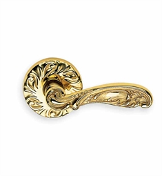 Omnia 233 Customizable Ornate Lever Latchset with Handle