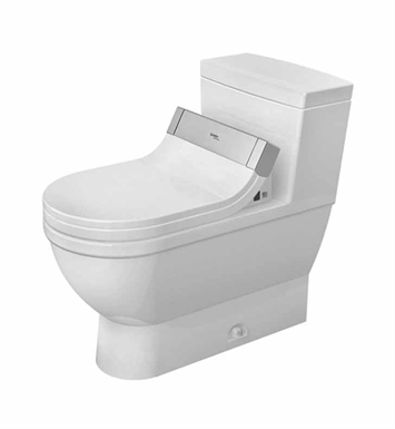 Duravit 2120510001 Starck 3 Elongated One Piece Toilet in White Alpin Finish