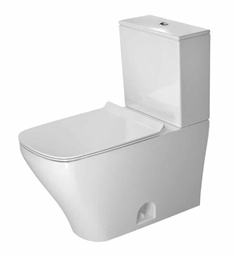 Duravit Durastyle Rectangular Two Piece Toilet in White Alpin Finish
