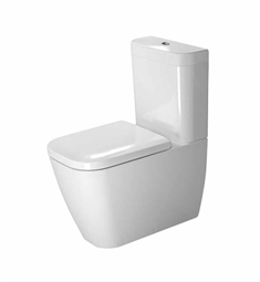 Duravit Happy D Elongated Two-Piece Close-Coupled Toilet in White Alpin Finish