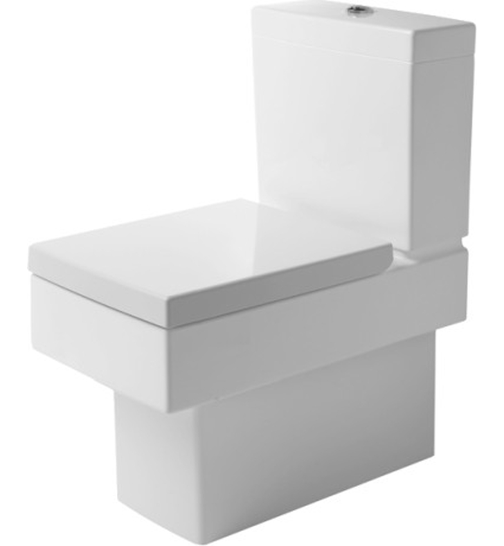 duravit 21160900921 vero square two piece toilet in white. Black Bedroom Furniture Sets. Home Design Ideas