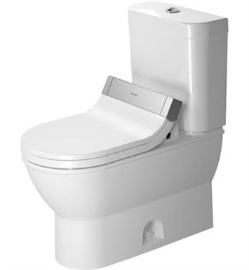 Duravit 2126010000 Darling New Elongated Two Piece Toilet Bowl In White Finish