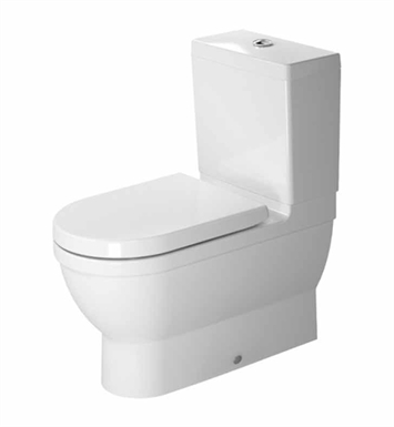 Duravit 2141090092 Starck Elongated Two-Piece Close-Coupled Toilet Bowl in White Finish