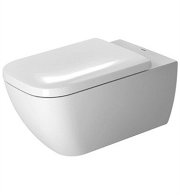 Duravit 2550090092 Happy D.2 Elongated One-Piece Rimless Toilet in White Finish
