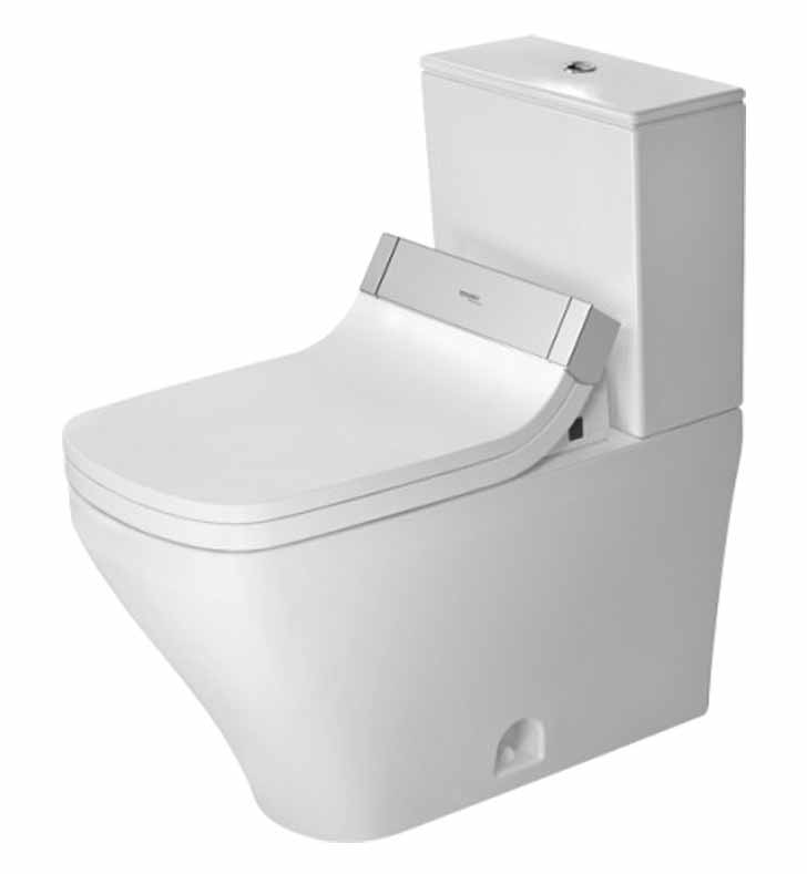 Duravit 2160510000 Durastyle Elongated Two Piece Dual Flush Toilet Bowl In Wh