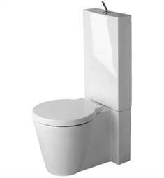 Duravit Starck Two Piece Close-Coupled Round Toilet in White Alpin Finish