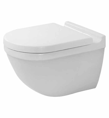 Duravit 2225090092 Starck Elongated One-Piece Wall-Mounted Toilet