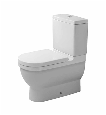 Duravit 0128090092 Starck Elongated Two-Piece Close-Coupled Toilet