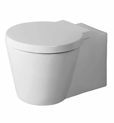 Duravit 02100900921 Starck Round One-Piece Wall-Mounted Toilet